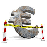 Euro under construction Royalty Free Stock Photography