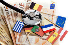 Euro under pressure Stock Image