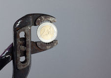 Euro under pressure Stock Photography