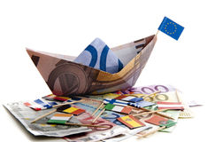 Euro under pressure Royalty Free Stock Photography