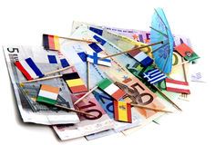 Euro under pressure Royalty Free Stock Photo