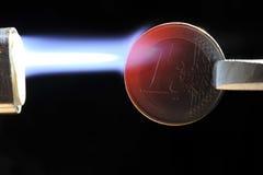 Euro unter Feuer Lizenzfreie Stockbilder
