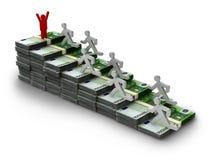 Euro uomo delle banconote Immagini Stock Libere da Diritti
