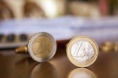 Euro upp Arkivbild