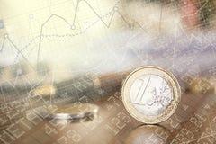 Euro upp Arkivfoton
