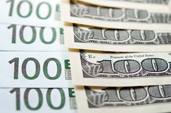 Euro USD exchange Royalty Free Stock Photos