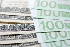Euro USD exchange Royalty Free Stock Photo