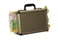 Euro valise Image libre de droits