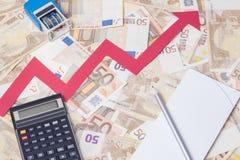 Euro value increasing Royalty Free Stock Image