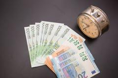 Euro valuta dei soldi Fotografie Stock Libere da Diritti