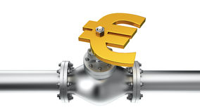 Euro pipeline Royalty Free Stock Images