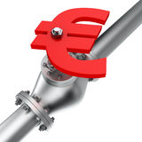 Euro valve Royalty Free Stock Photo