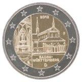 euro vecteur de haute résolution de la pièce de monnaie 2 procurable très Images libres de droits