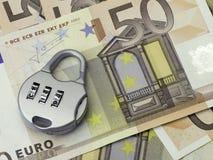 Euro veiligheidsconcept royalty-vrije stock foto's