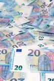 Euro veinte Fotografía de archivo libre de regalías