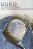 Euro verlies Stock Foto