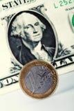 Euro versus dollar Stock Photos