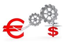 Euro versus Dollar Royalty-vrije Stock Foto