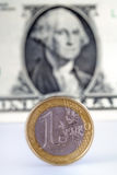 Euro versus dollar Stock Photos