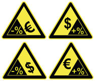 Euro versus Dollar Royalty Free Stock Photos