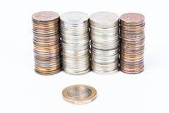 Euro versus Roebels Royalty-vrije Stock Foto