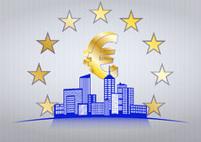 Euro ville Photo stock