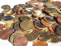 Euro violento a metà contro vecchia priorità bassa Fotografia Stock Libera da Diritti