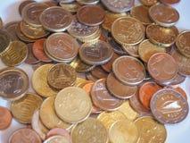 Euro violento a metà contro vecchia priorità bassa Fotografia Stock
