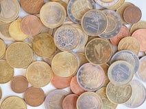 Euro violento a metà contro vecchia priorità bassa Immagine Stock