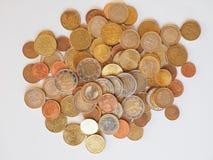 Euro violento a metà contro vecchia priorità bassa Fotografie Stock Libere da Diritti