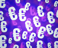 Euro Violet Background Stock Photo