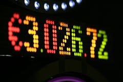 Euro visualizzazione progressiva Fotografia Stock Libera da Diritti