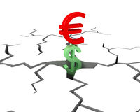 Euro vittorie immagine stock