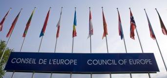Euro Vlaggen Royalty-vrije Stock Afbeeldingen