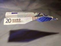 Euro-vlieger-x royalty-vrije stock afbeeldingen