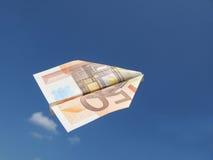 Euro-vliegtuig Royalty-vrije Stock Afbeelding