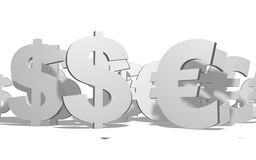 Euro VS Dollar Stock Photos