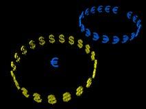 Euro Vs Dollar  Royalty Free Stock Images