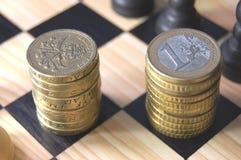 Euro vs pound Royalty Free Stock Photography