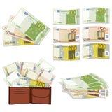 Euro w różnych formach Zdjęcia Stock