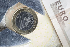 Euro waardeverlies Stock Afbeeldingen