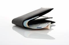 Euro and wallet Stock Photos