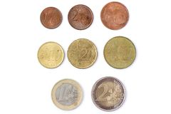 Euro waluta 0,1, 2 zdjęcia royalty free