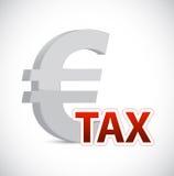 Euro waluta podatku znaka pojęcia ilustracja Zdjęcia Royalty Free