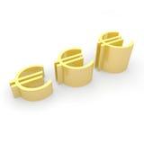 Euro waluta przyrost Fotografia Royalty Free