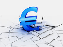 euro waluta spadek Obrazy Stock