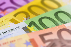 Euro waluta z banknotami obraz royalty free