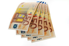 50 euro waterfall. To indicate the profit in business or winnings Stock Photography