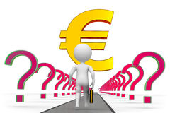 Euro way to success Stock Photo