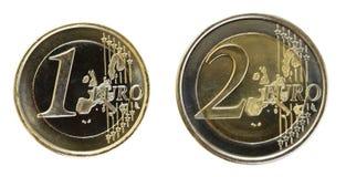 Euro on White Royalty Free Stock Photo